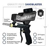 Sandblaster Portable Speed Blaster, Sand Blasting Nozzle Gun, Gravity Feed Sandblast Gun, Speed Blaster with Extra Tip (Black)