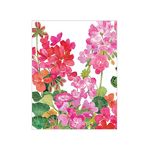 Caspari Geraniums Gift Enclosure Cards, 12 Mini Cards & Envelopes ()