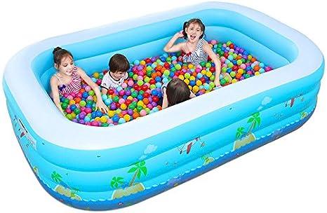 LybCvad bebé y Niños Piscina Hinchable Casa Oversize Bola Marina Adulto Juegos Tesoro Bañera de Baño Bañera 1,8 Metros 3 Capas de Base de Espuma de Impresión: Amazon.es: Hogar