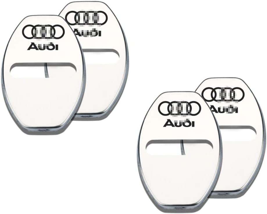 L/&U 4PCS Stainless steel Door lock Striker Cover Striker Cover for Audi A6L//A4L//A3//A7//A5//Q3//Q5L//Q7//Q2L,Silver,Sline