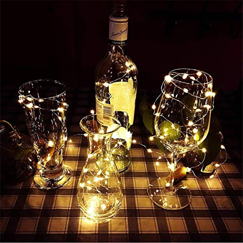 1 Pack Bottle Lights Cork Shaped 20 Micro LEDs 2M Waterproof String Lights Wine Bottle Glass Decor DIY Lights for Party…
