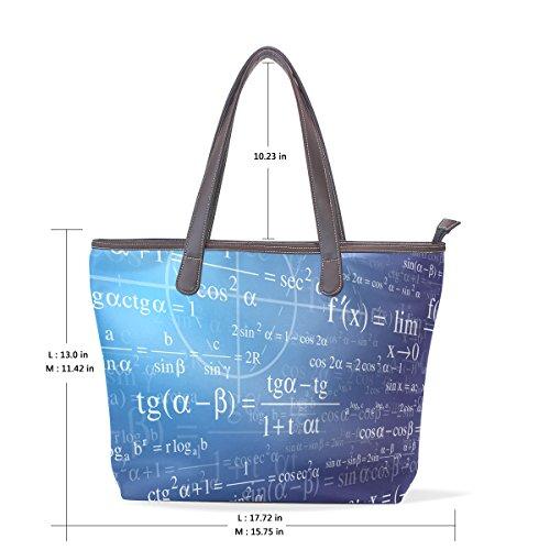 Matematico Sfondo M Pelle Muticolour Cm In Maniglie Grandi Tracolla Manico 40x29x9 Coosun Pu Mano wad5qHw