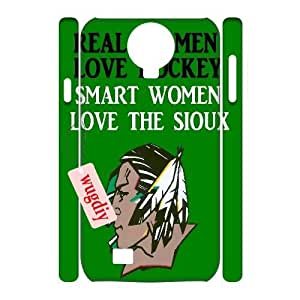 wugdiy New Fashion Cover 3D Case for SamSung Galaxy S4 I9500 with custom Fighting Sioux