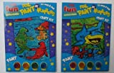2 x Kids Childrens Painting Foil Paint by Numbers Shark & Seals Craft Kit