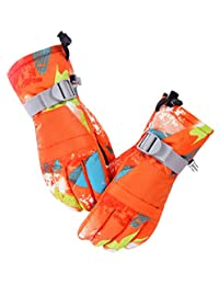 Kid Boys Girls Ski Gloves Waterproof Winter Warm Snow Gloves for Skiing Snowboard