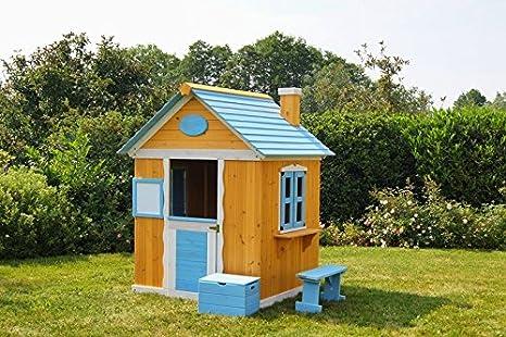 animalmarketonline Casa Rifugio Juegos para niños de madera jardín Marta: Amazon.es: Hogar