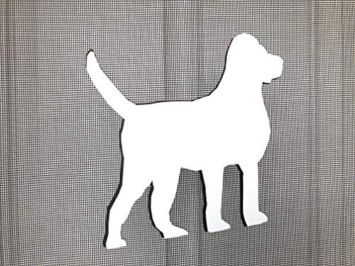 DCentral Large Family Dog Screen Magnet: Double-Sided Decor; for Non-Retractable Screens, Multipurpose, Helps to Stop Walking into Screens, Covers Small tears in Screens. Size 6