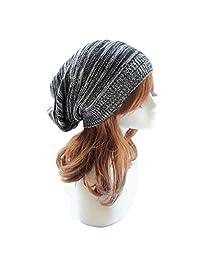 Changeshopping Unisex Knit Baggy Beanie Beret Winter Warm Oversized Ski Cap Hat