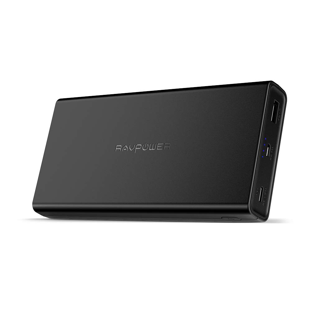 USB C Portable Charger RAVPower Power Bank 20100mAh PD 3.0 45W Power Delivery (USB-C Input, 45W Type-C Output) External Battery Pack for MacBook, Nintendo Switch, Galaxy S9 and More, Black