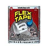 Flex Tape Rubberized Waterproof Tape, 4' x 5', Clear