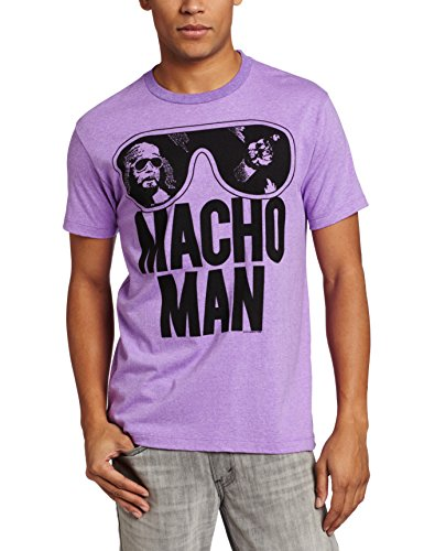 American Classics Men's Macho Man Ooold School T-Shirt, Purple, X-Large
