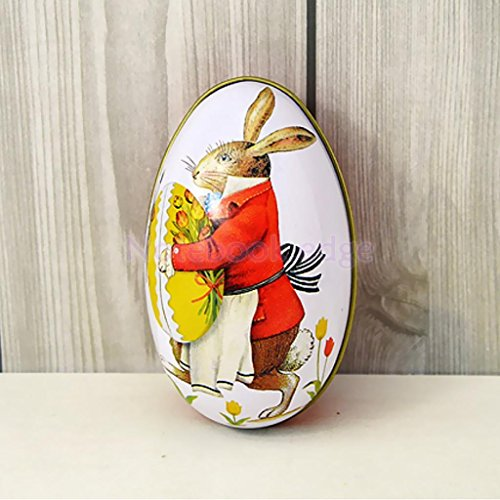 Various Metal Tin Cute Easter Egg Trinket Gift Storage Candy