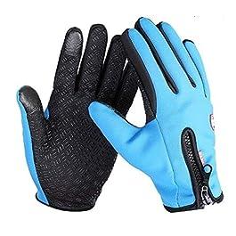 Gear Up Wind Stopper Waterproof Fleece Men Women Gloves Wind-proof Thermal Touch Screen Outdoor Sport Cycling Gloves…