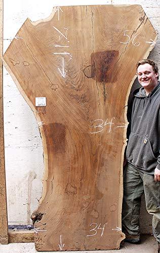 DIY Rustic Live Edge Dining Table Kitchen Tabletop Natural Claro Walnut Raw Wood Slab Figured Custom Wooden Furniture 6473s3