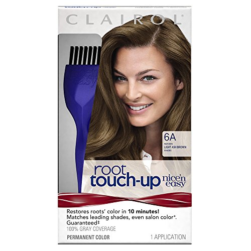 Clairol Nice 'n Easy Root Touch-Up, 6A Light Ash Brown, Permanent Hair Color, 1 Kit (Pack of 2) (PACKAGING MAY - Hair Color Clairol Permanent