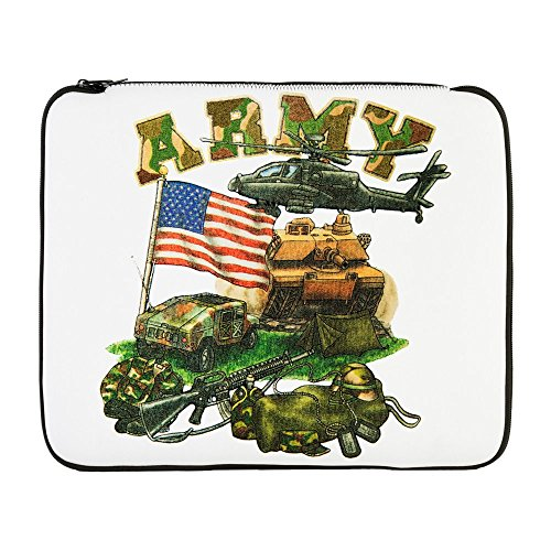 17 Inch Laptop Sleeve Camouflage US Army Helicopter Tank
