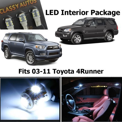 classy autos toyota 4runner white interior led package 10 import it all. Black Bedroom Furniture Sets. Home Design Ideas