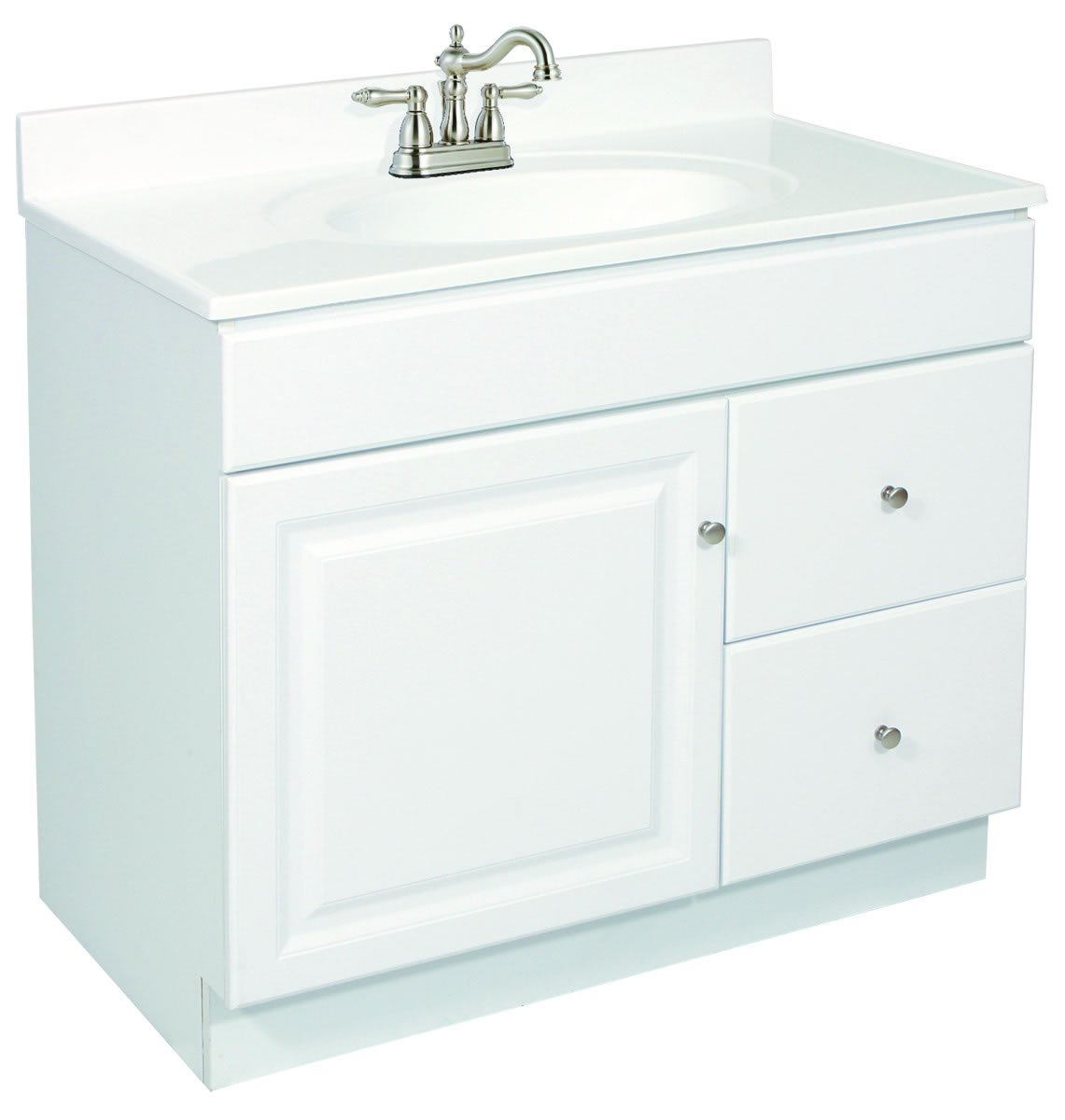 Design House 545053 Wyndham White Semi Gloss Vanity Cabinet With 1 Door And 2 Drawers 24 Inches Wide By 31 5 Inches Tall By 21 Inches Deep Hand Tool Sets