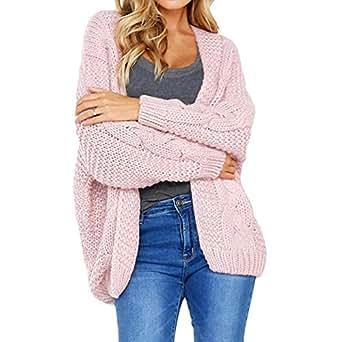 VESKRE Women's Leopard Print Sweaters Warm Winter Top Sweatshirt Pullover Jumper Coat(US:8/CN:S,Yellow)(US:8/CN:S,Yellow)