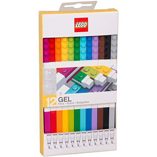 LEGO Stationery - Colored Gel Pens 12 Pack with Building Bricks - .7mm by LEGO (Image #7)