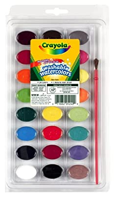 Crayola Washable Watercolors, 24 Count (53-0524)