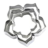 steel cookie cutters - 3Pcs/Set Cake Decorating Mold Stainless Steel Cutter for Cakes Cupcakes Cookies Pastry - Type A352