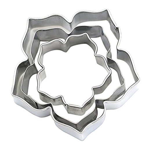 3Pcs/Set Cake Decorating Mold Stainless Steel Cutter for Cakes Cupcakes Cookies Pastry - Type -