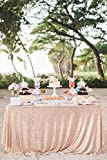 10PCS Factory Wholesale Sequin Tablecloth-90x132inch-Champagne Shimmer Sequin Fabric, Sequin Table Cloth, Table Linens Nice Wedding/Birthday Shower Decoration Needed