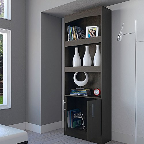 RTA Design Simma Collection - Tall Bookcase with 2 Drawers and 3 Shelves (1 Unit, Black (Collection Tall Bookcase)