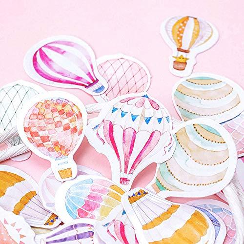 Air Hot Packages Balloon - Maxbei Colorful Hot Air Balloon Shape Sticker Adhesive Paper Sticker DIY Handmade Gift Card Scrapbook Album Diary Decor Stickers(45 pcs/Box)