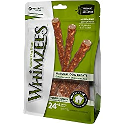 WHIMZEES Natural Grain Free Dental Dog Treats, Small Veggie Sausage, Bag of 28