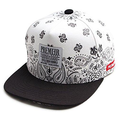 AUGUST PREMIER Snow Paisley Snapback Bboy Cap Adjustable Men s Women s Hats  - One Size   22.4