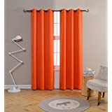 MYSKY HOME Grommet Top Thermal Insulated Window Blackout Curtains For  Dining Room, 42 X 84