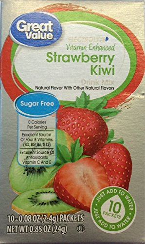 Great Value Good Source of Vitamin C Kiwi Strawberry Fitness Drink Mix (Pack of 4)