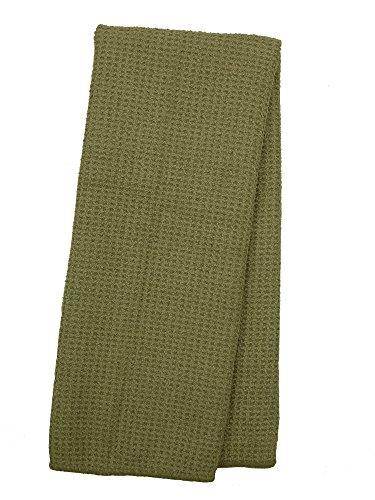Eurow Microfiber Waffle Weave Kitchen Towel (3-Pack, Green Mist)