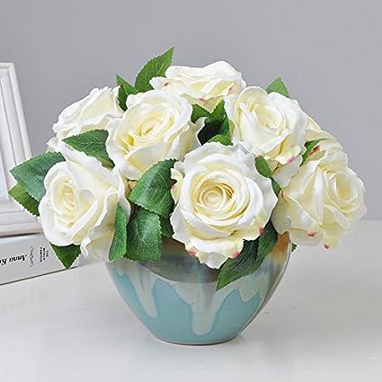 Zhudj Roses Muck Flores Artificiales Kit Mesa De Comedor