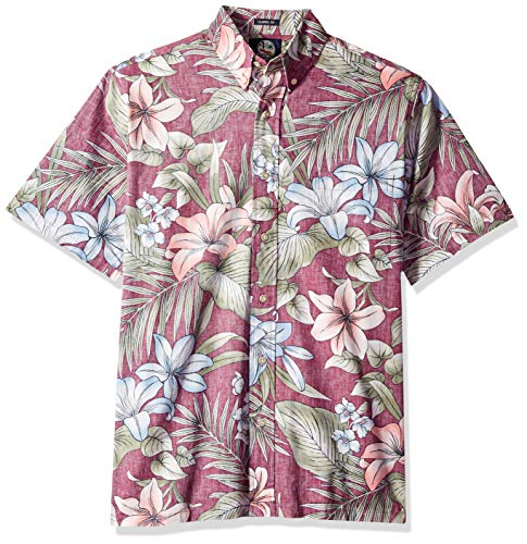 0900b99f Reyn Spooner Men's Classic Fit Hawaiian Shirt, Uluwehi-Plum, ...