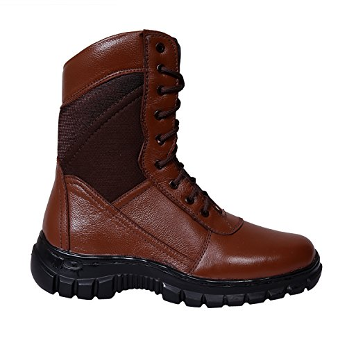SSG Men's Classic Brown Tactical Combat Work Leather Boot