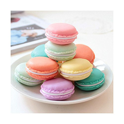 6 Pcs Mini Storage Bnis,Earphone SD Card Macarons Storage Box Case Carrying Pouch Novelty Gift Box (As show)