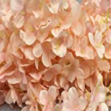 6.56ft String Fake Artificial Flowers Vine Ivy Leaf Garland Floral Home Decor (light pink)