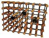 40 Bottle Wine Kitchen Storage Wood Rack Organizer Furniture Tabletop Stand Bar