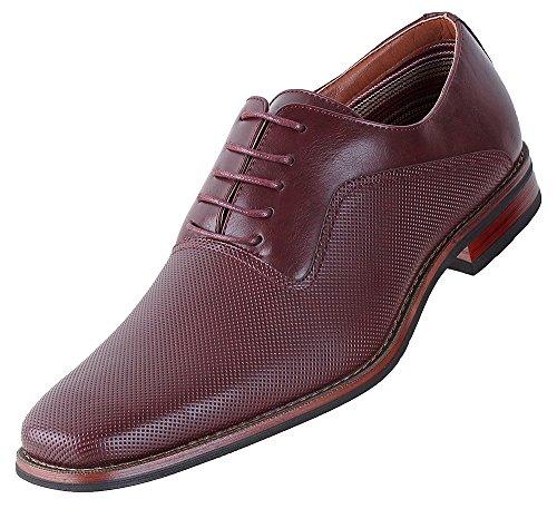 Chaussures Habillées Lalo Oxford Ferro Aldo Mens | Chaussures Habillées Confortables | Formel | Lacet | Design Classique ... Vin