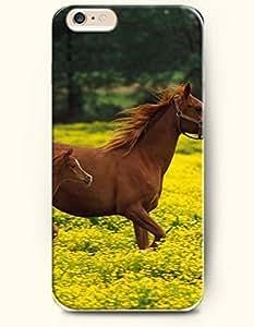 SevenArcCase Cover For LG G2 Horse Walking in the Flower Ocean
