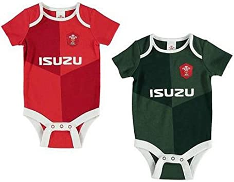 Chaleco de rugby oficial de Gales para bebé, camiseta de la Copa del Mundo de 2 unidades, diseño 2019/20: Amazon.es: Ropa y accesorios