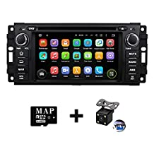 Quad Core Android 5.1 Car Radio GPS Navigation Stereo for 2007-2013 Jeep Wrangler 2008-2012 Jeep Liberty 2009-2013 Jeep Compass 2010-2013 Jeep Patriot 2008-2013 Jeep Grand Cherokee 2008-2010 Jeep Commander