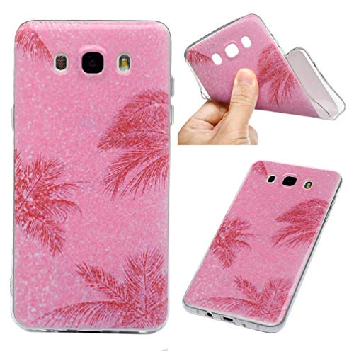 Galaxy J7 2016 Case, 3D Fashion Design Painted Pattern Series Ultra Slim Fit Silicone TPU Shockproof Anti-Scratch Rubber Skin Cover for Samsung Galaxy J7 2016 - Light spot Foundation Pine - Foundation Pine
