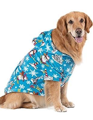 Footed Pajamas Pet Pjs - - Winter Wonderland Pet Pjs Fleece Hoodie