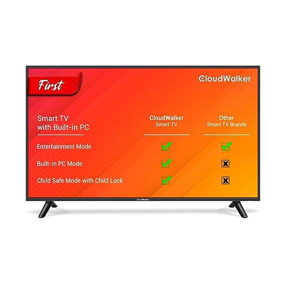 CloudWalker 109cm  43 Inches  Full HD Smart LED TV Cloud TV 43SFX3  Black