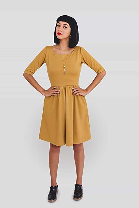 Colette Patterns Moneta Knit Dress Sewing Pattern Amazon