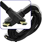 12 Ft foot High Speed HDMI Cable 24awg Heavy Duty(Mesh Net Jacket) for HDTV PlayStation XBox Blu-ray - CL2 Rated Cord by ShopBox